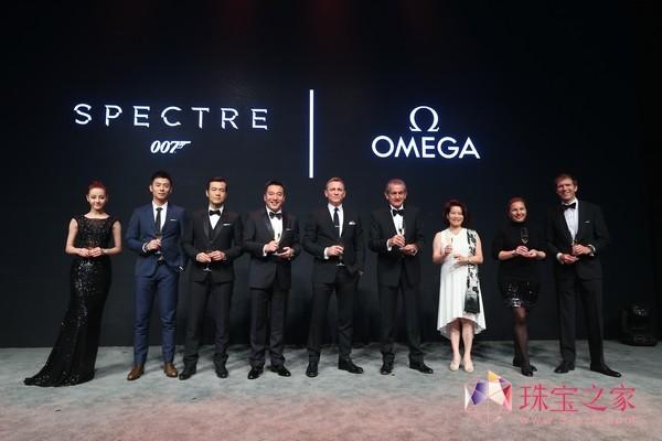 欧米茄携手丹尼尔克雷格庆祝《007:幽灵党》盛大上映