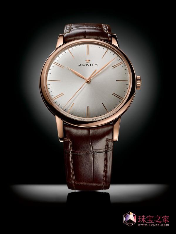 真力时全新Elite 6150 优雅玫瑰金款腕表