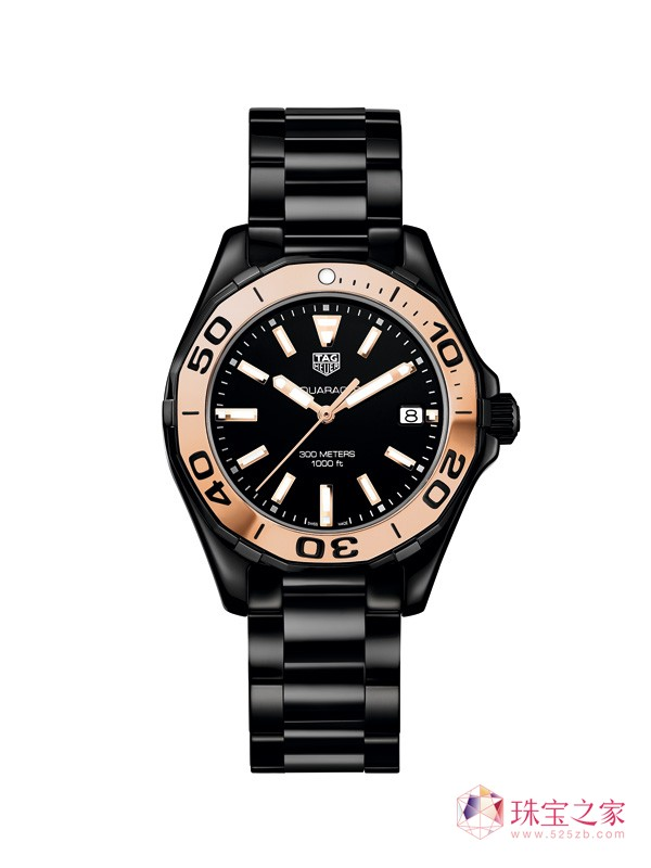 泰格豪雅Aquaracer竞潜女士300米全陶瓷腕表