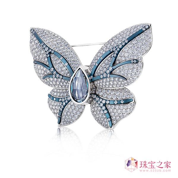 戴比尔斯钻石珠宝自然,花朵色彩,立体几何类