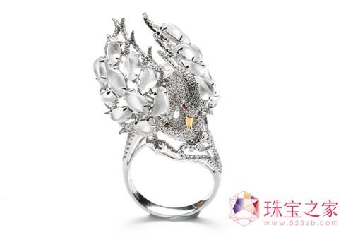 七彩云南原创珠宝设计《天使之恋》套装-戒指