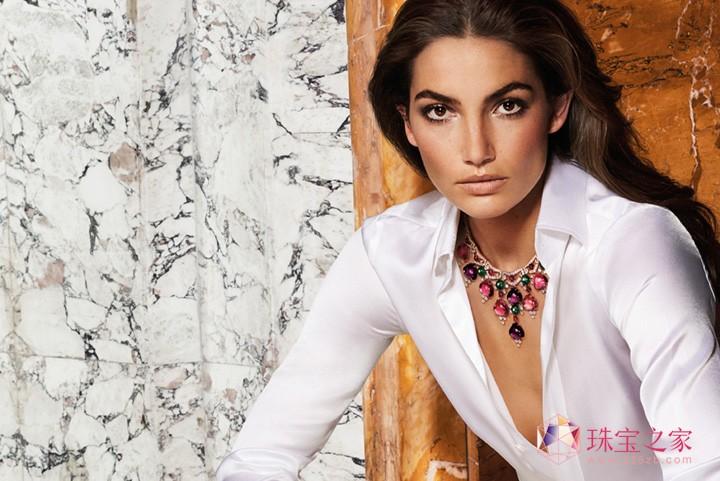 超模Lily 演绎罗马珠宝巨匠的永恒之美,BVLGARI 2016秋冬系列珠宝广告大片