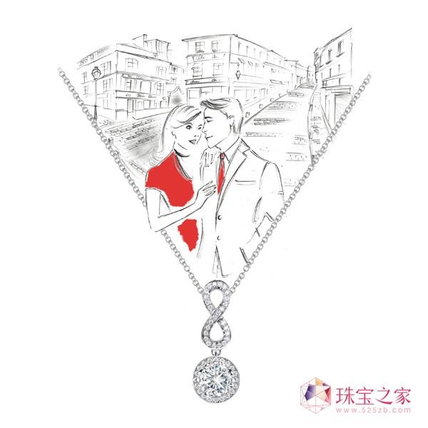 Forevermark 携插画家开启情人节漫漫之旅