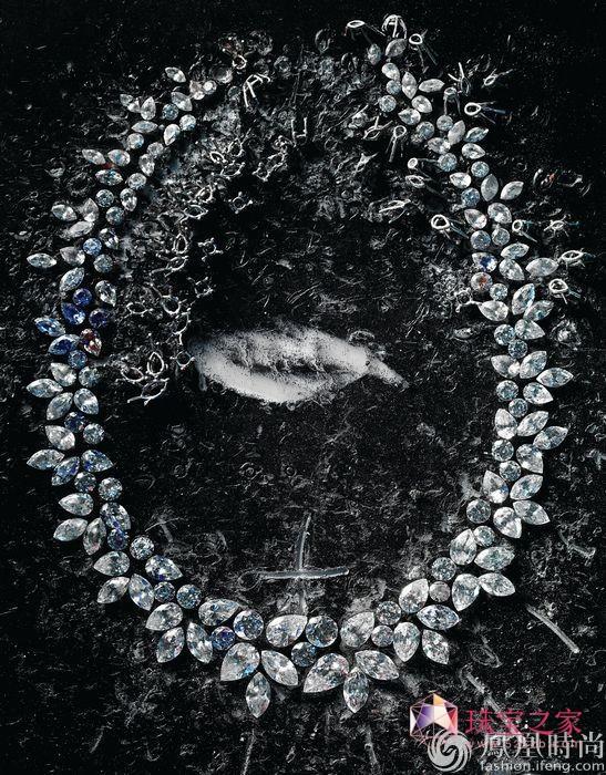 海瑞温斯顿Wreath钻石项链草图