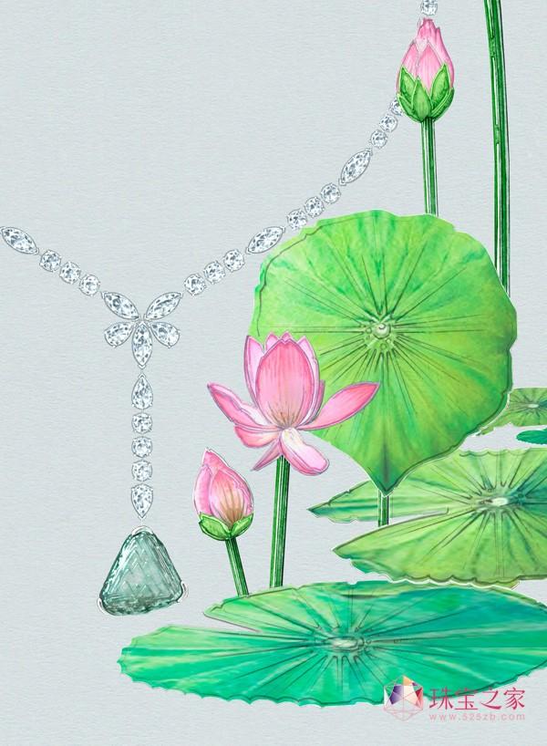 Lotus by De Beers 全新高级珠宝献世,赞颂莲花静谧之美