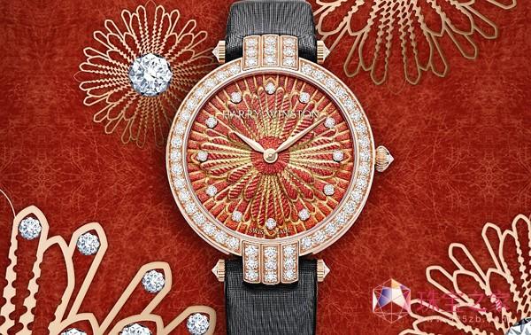丝绸与浮雕工艺巧妙融合,海瑞温斯顿Delicate Silk腕表