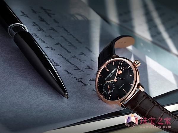 康斯登新品超薄月相自家机芯腕表