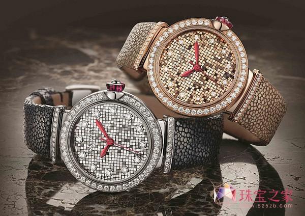 装饰艺术之美 宝格丽金砖堆砌马赛克表盘腕表
