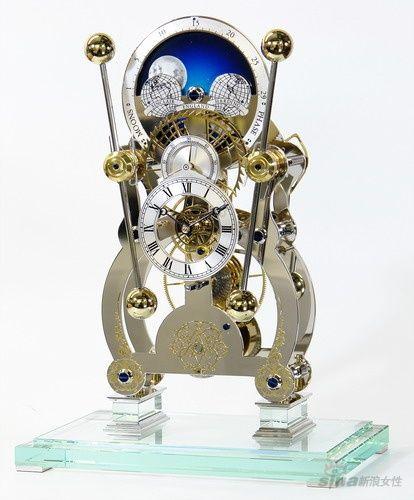 约翰 哈里森航海钟 moonphase sea clockmoonphase rhodium on glass