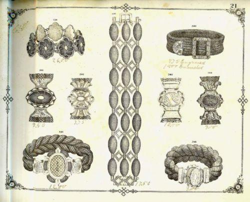 1870德国珠宝设计师手绘稿曝光