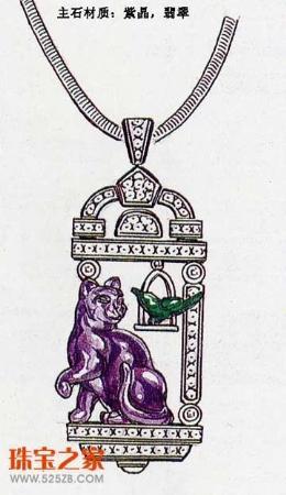 珠宝设计手绘图赏(1)