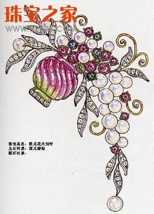 灵性生命力的传达 珠宝设计手绘图赏
