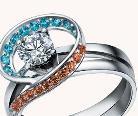 点缀爱情的彩宝戒指
