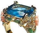 为她选款海蓝宝石钻戒 魔力之石