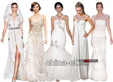 4款春夏婚纱礼服展示四大流行趋势