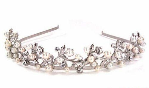 皇冠式水晶珍珠发卡 早春时尚新娘