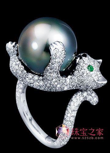 动物造型彩宝戒指