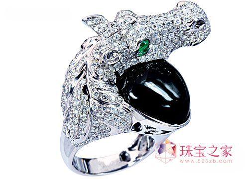 自然情趣 动物造型彩宝戒指