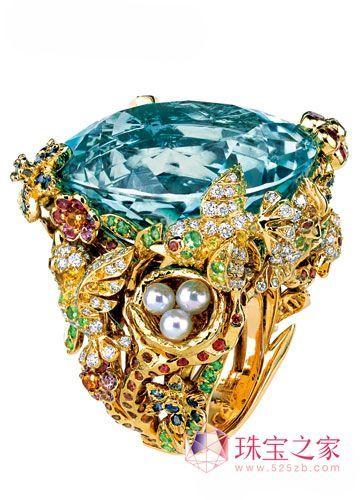 大颗粒彩色宝石戒指 让你艳光四射_彩宝馆_珠宝之家