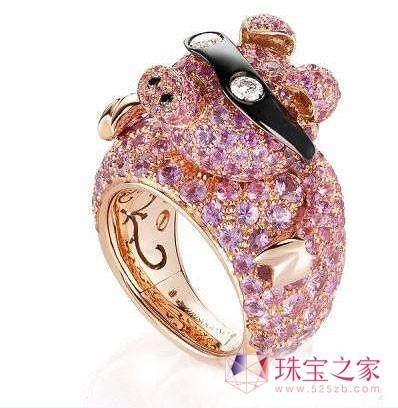 萌萌的可爱动物造型珠宝(图)