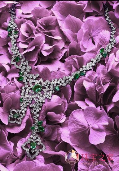 Limelight Garden Party系列钻石花环主题项链