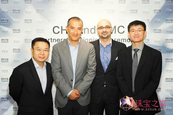 戴比尔斯钻石推广中心全球销售副总裁Mahiar Borhanjoo先生及全球销售总监Ricky Ng先生等高层出席仪式