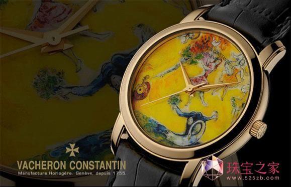 典藏艺术腕表 结合彩绘图案与机芯运转的优雅