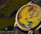 藏亚洲城ca272腕表 结合彩绘图案与机芯运转的优雅