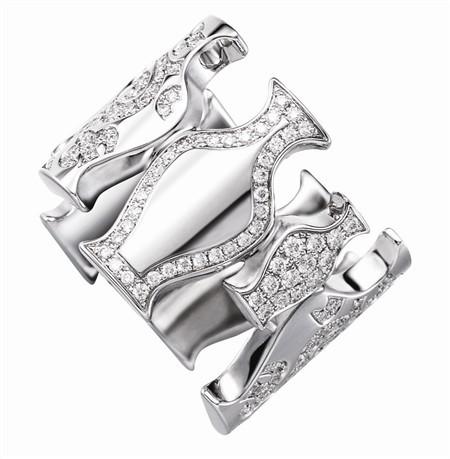 """""""清""""宝瓶戒指18K白金钻石"""