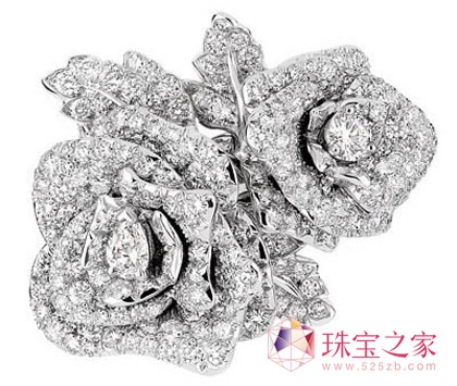 Rose Dior Bagatelle18K 白金钻石戒指