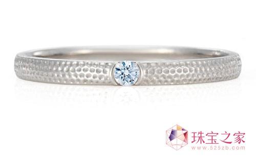 镶白钻白金指环