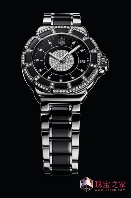 F1女士精钢陶瓷镶钻腕表 黑色陶瓷 RMB 36,500