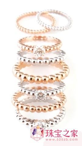 全新Perlée Solitaire钻石戒指