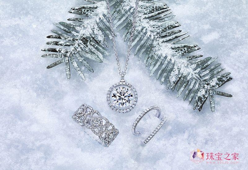 DE BEERS(戴比尔斯)与圣诞雪花媲美的钻饰