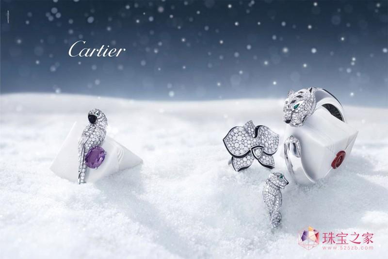 卡地亚2011珠宝大片:冬天的故事