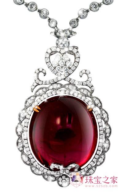 2012春节珠宝消费之彩色宝石作品图片为鑫亨达・至尊珠宝提供