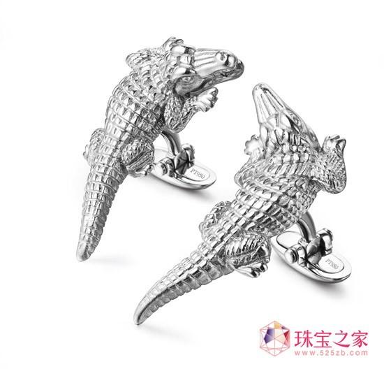"第3名 铂金袖扣 ""鳄鱼"" Crocodile"