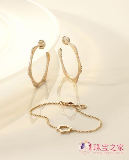 万宝龙4810珠宝系列 粉红金耳环与手链