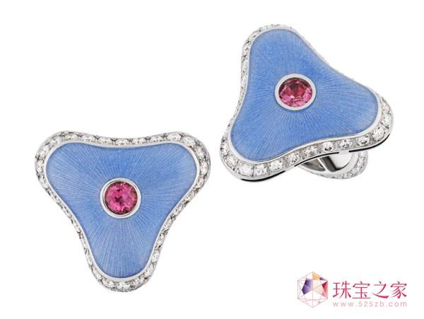 精细刚劲 Fabergé 男士宝石袖扣系列