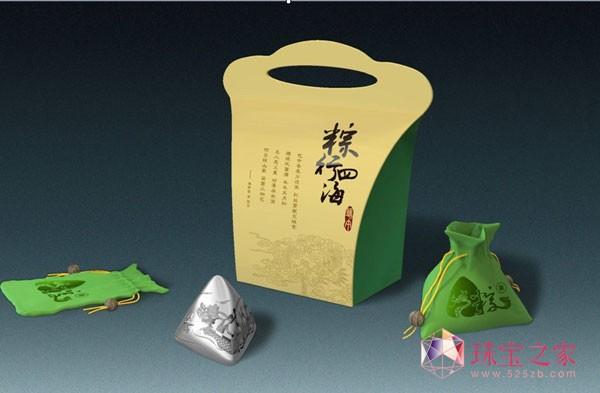 """为迎接端午佳节的到来,同时创新食物粽子的传统礼物概念,金一黄金特别研发生产了一款与""""粽""""不同的""""端午银粽""""!"""