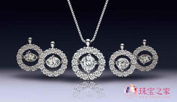 爱迪尔珠宝 灵动 系列吊坠,演绎会动的钻石 高清图片