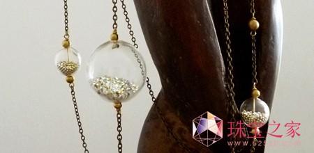 张小川珠宝首饰设计作品:手工琉璃球水晶项链