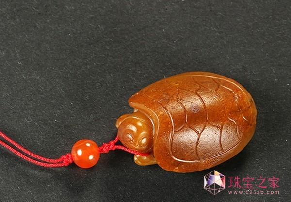 和田玉籽料金龟挂件