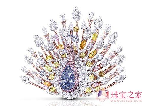 格拉夫呈现价值1亿美元的瑰丽孔雀胸针