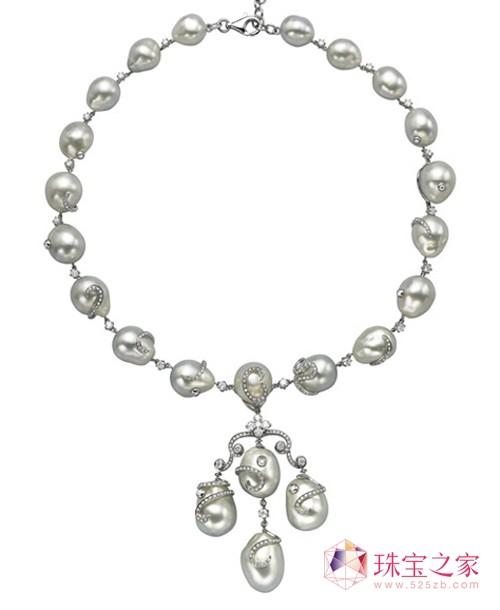 芳华珠宝巴洛克珍珠项链