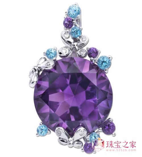 施华洛世奇 母亲节 Happiness 18K金紫晶托帕石钻石链坠