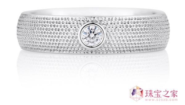 AZULEA男士白金戒环戴比尔斯钻石珠宝(DE BEERS DIAMOND JEWELLERS)AZULEA男士礼品