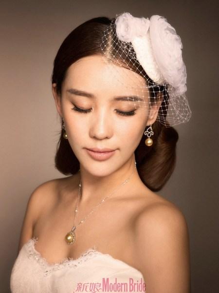施艳飞新娘杂志珠宝大片 清纯秀丽