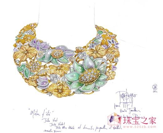 ttf haute joaillerie—玉莲花fleur de lotus系列高级珠宝