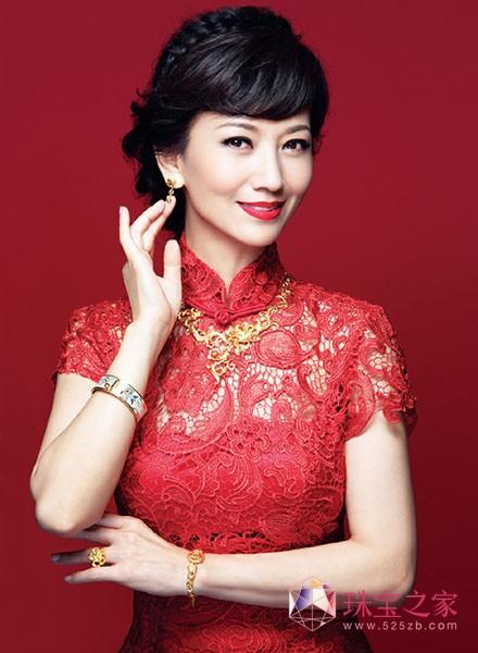 赵雅芝亮相老凤祥珠宝活动 有意参与珠宝设计